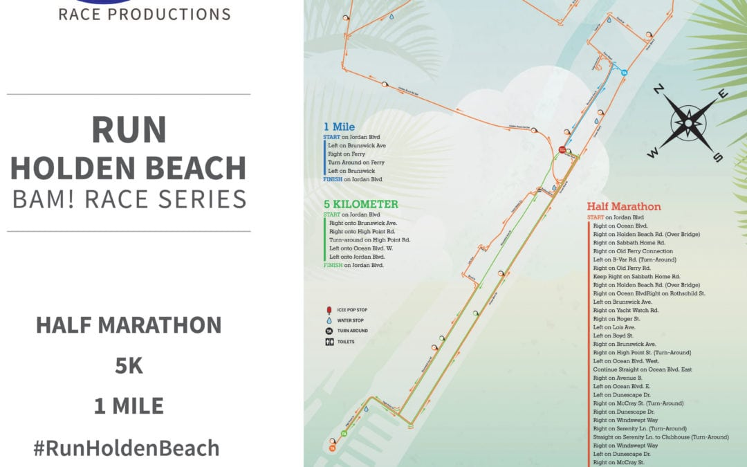 Run Holden Beach Route Details
