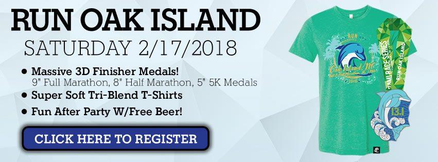 Run Oak Island Pre Race Instructions
