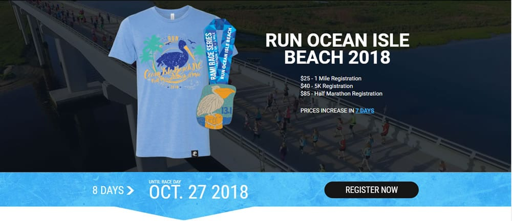Run Ocean Isle Beach 2019 Pre-Race Information