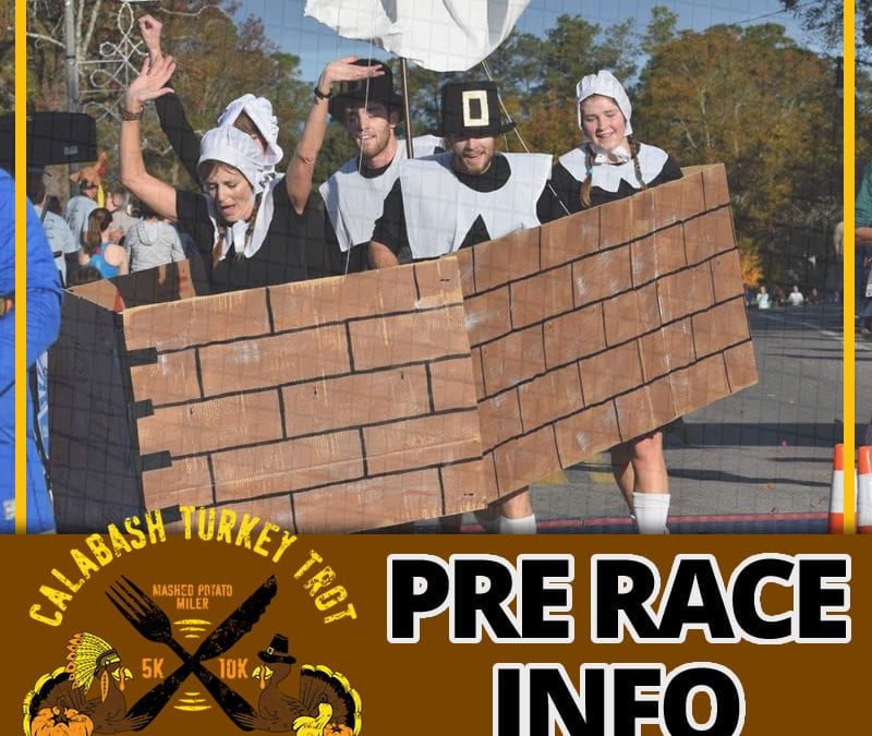 2019 Calabash Turkey Trot Pre Race Email