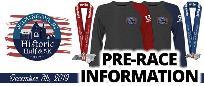 2019 Wilmington Historic Half & 5K Pre-Race Info